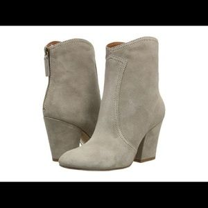 Nine West Dashiell suede taupe booties